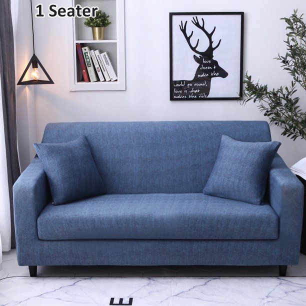 Chair Loveseats Couch Elastic Cover, Round Couch Slipcovers