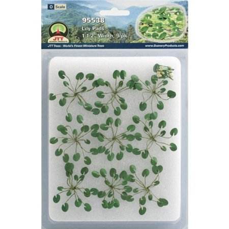 Gardening Plants Lily Pads O Scale Hobby Train Sceneries, O scale; 1-1/2 Width By JTT Scenery Products