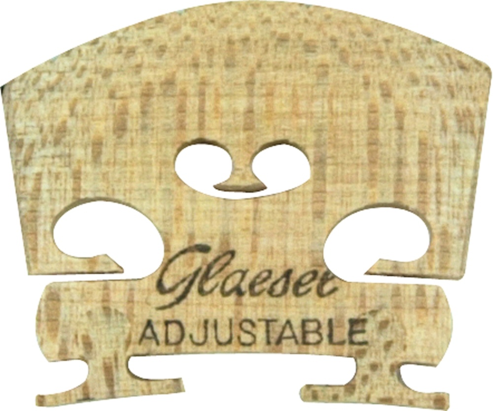 Glaesel Self-Adjusting 1 4 Violin Bridge Medium by Glaesel
