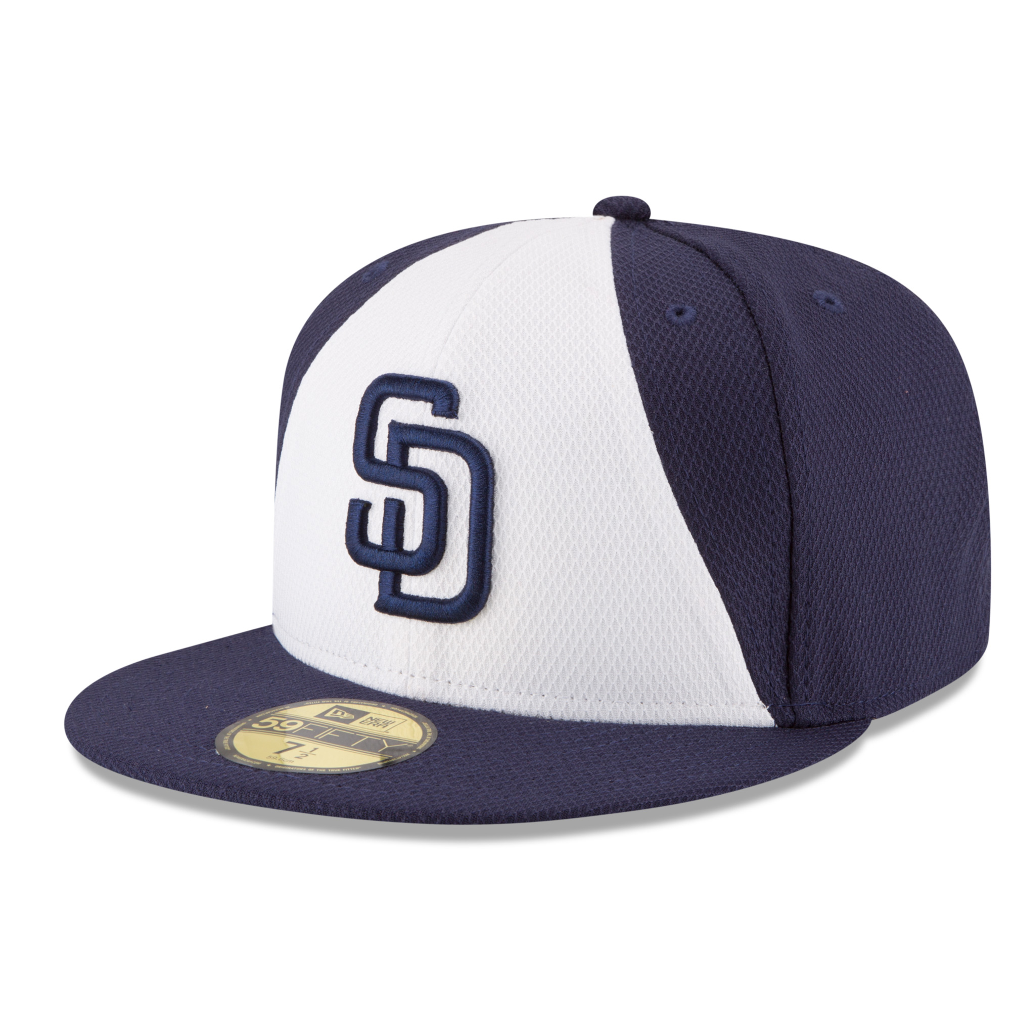 San Diego Padres New Era Game Diamond Era 59FIFTY Fitted Hat - White/Navy