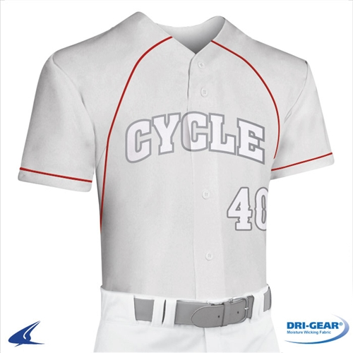 Champro Adult Cycle 2 Button Faux Baseball Jersey
