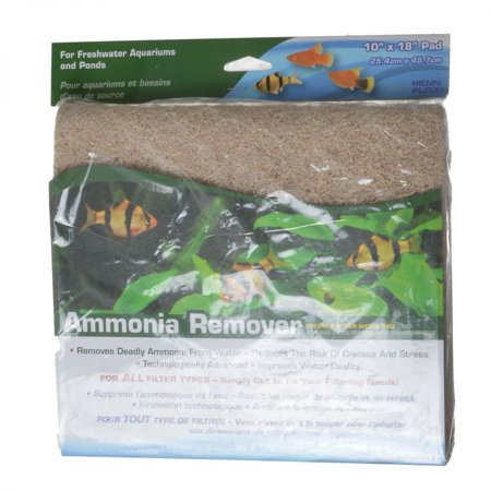 Penn Plax Ammonia Remover Infused Filter Media Pad 10 Long x 18 Wide