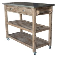 Boraam Industries Sonoma Wire-Brush Kitchen Cart