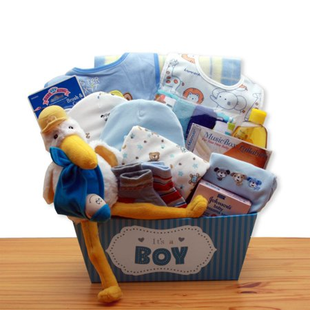 Gift Basket Drop Shipping A Special Delivery New Baby Gift Basket - Blue