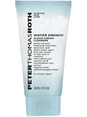 ($28 Value) Peter Thomas Roth Water Drench Cloud Cream Facial Cleanser, Face Wash for Normal to Dry Skin, 4 Oz
