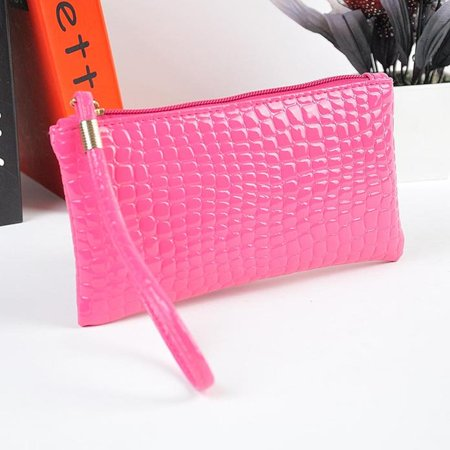 - Women Crocodile Leather Clutch Handbag Bag Coin Purse Hot