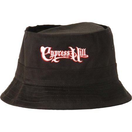 dbbf7176bdb Cypress Hill - Cypress Hill Men s Embroidered Block Text Logo Bucket Cap  Black - Walmart.com