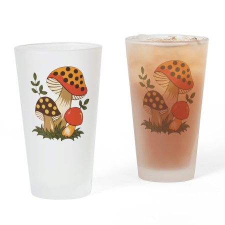 CafePress - Merry Mushroom - Pint Glass, Drinking Glass, 16 oz.