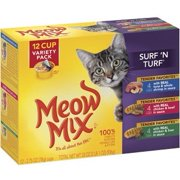 Meow Mix Market Select Surf `n Turf Wet Cat Food Variety Pack, 12 ct