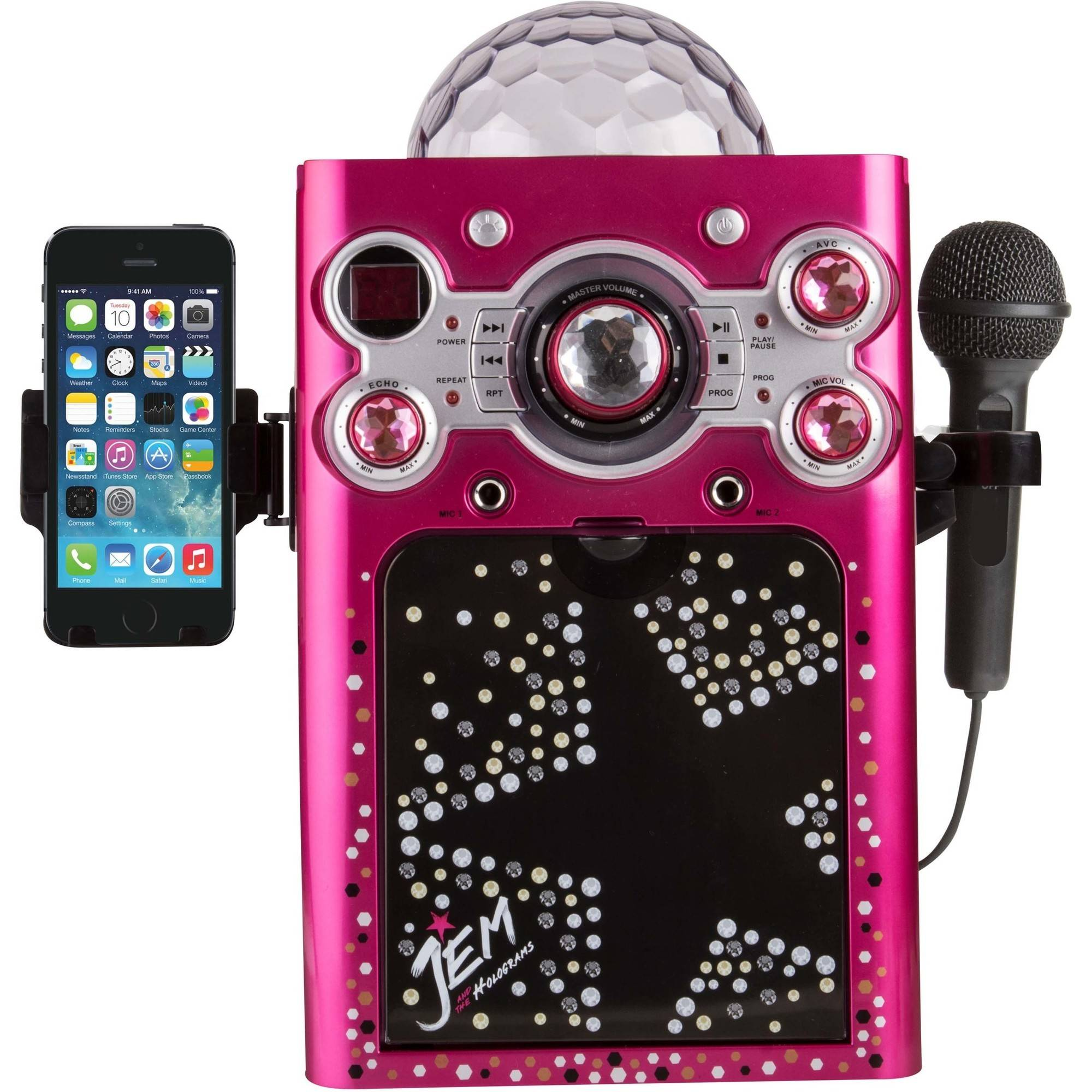 Sakar KO2-06095 Jem & The Halograms CDG Karaoke Machine with 1 Microphone