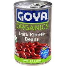 Beans: Goya Organics Dark Red Kidney Beans Canned