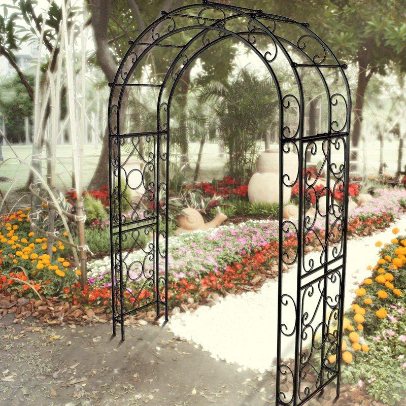 Austram-Griffith Creek Designs Victorian Metal Arch Top Arbor Hammered Bronze by Austram Inc
