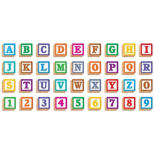 "Trend 3-d Block Style 4"" Ready Letters - 4"" - Assorted (T79851)"