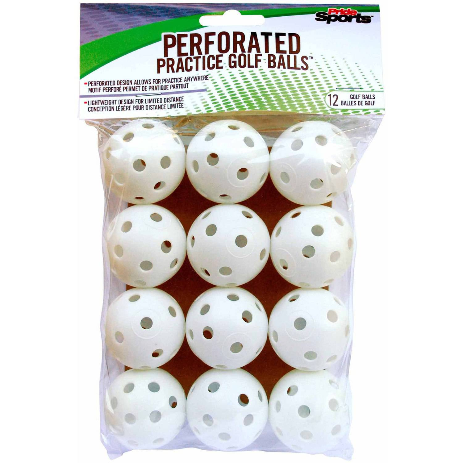 PrideSports White Perforated Practice Balls