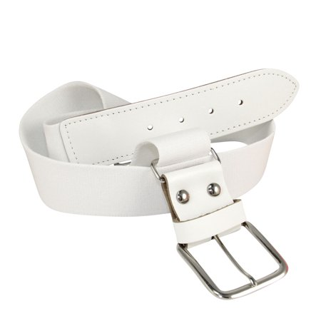 TCK Adjustable Elastic Belts Youth Adult - Baseball, Fastpitch, Softball (White, Large/Adult - Waist (30-46))
