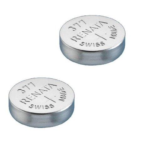 Renata Watch Battery 377 (Sr626Sw), Twin Pack ()