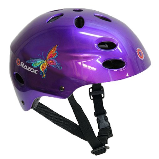 Razor V-17 Child Safety Sports Helmet for Children 5-8, Gloss Purple | 97945
