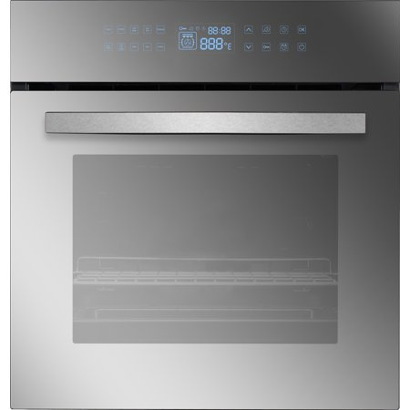 Empava 24 In. Electric Built-in Convection Wall Oven with LED Display Touch in Stainless Steel