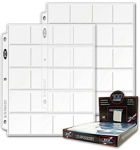 Case Of 1000 Bcw Pro 20 Pocket Coin Album Pages Holds 2x2 Coin