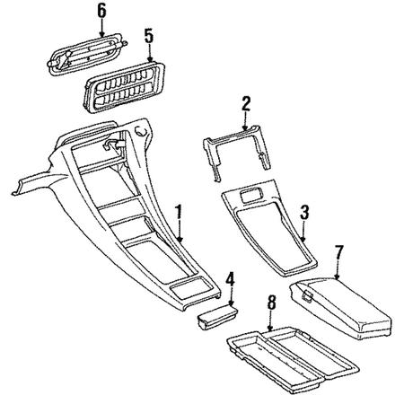 Genuine OE Porsche Cassette Player Insert 928-555-729-03