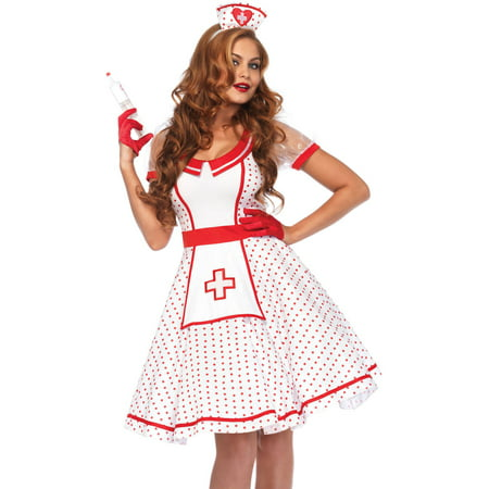 Leg Avenue Women's Bedside Betty Sexy Retro Nurse Costume