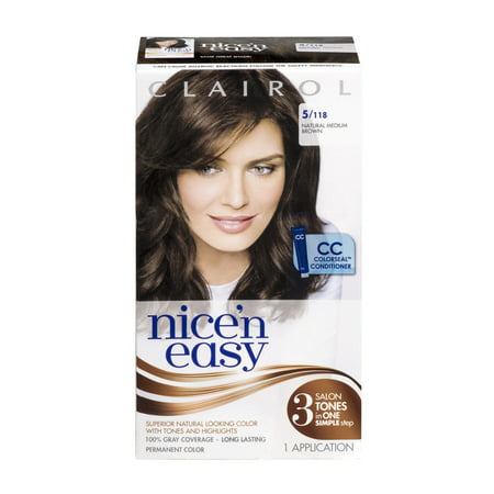 clairol nice n easy permanent color 5118 natural medium brown - Clairol Nice And Easy Hair Color