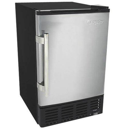 EdgeStar IB120SS Ice Maker, 12 lbs, Stainless Steel and Black