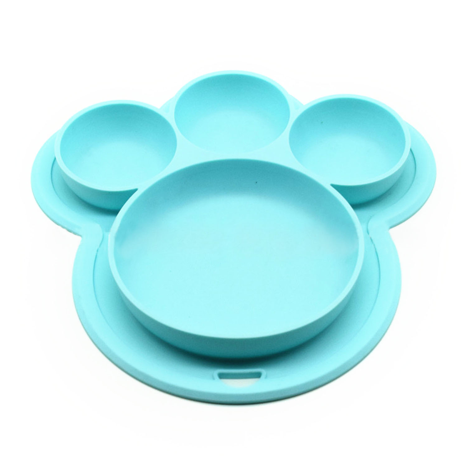 Outgeek Kids' Plate Cute Bear Paw Shape Suction Silicone Food Fruits Divided Plate Dinner Plate Dish Bowl... by Outgeek