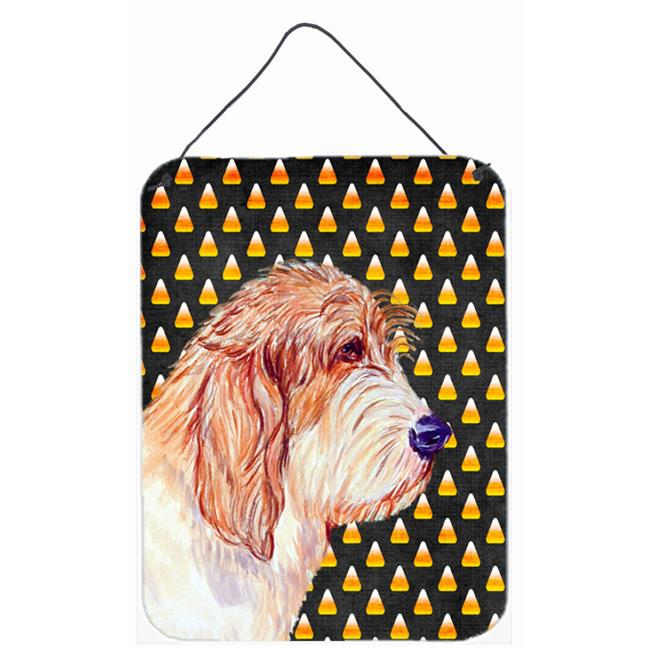 Carolines Treasures LH9047DS1216 12 x 16 in. Petit Basset Griffon Vendeen Candy Corn Halloween Aluminum Metal Wall & Door Hanging Prints - image 1 of 1