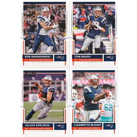 NEW ENGLAND PATRIOTS - 2017 Cards COMPLETE Team Set (PLUS 1 Special Insert Card), COMPLETE TEAM SET w/ ALL ROOKIES & STARS By Score Football Ship from - Football Team Colors