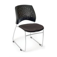OFM Stars and Moon Armless Stacking Chair with Cushion (Set of 4)