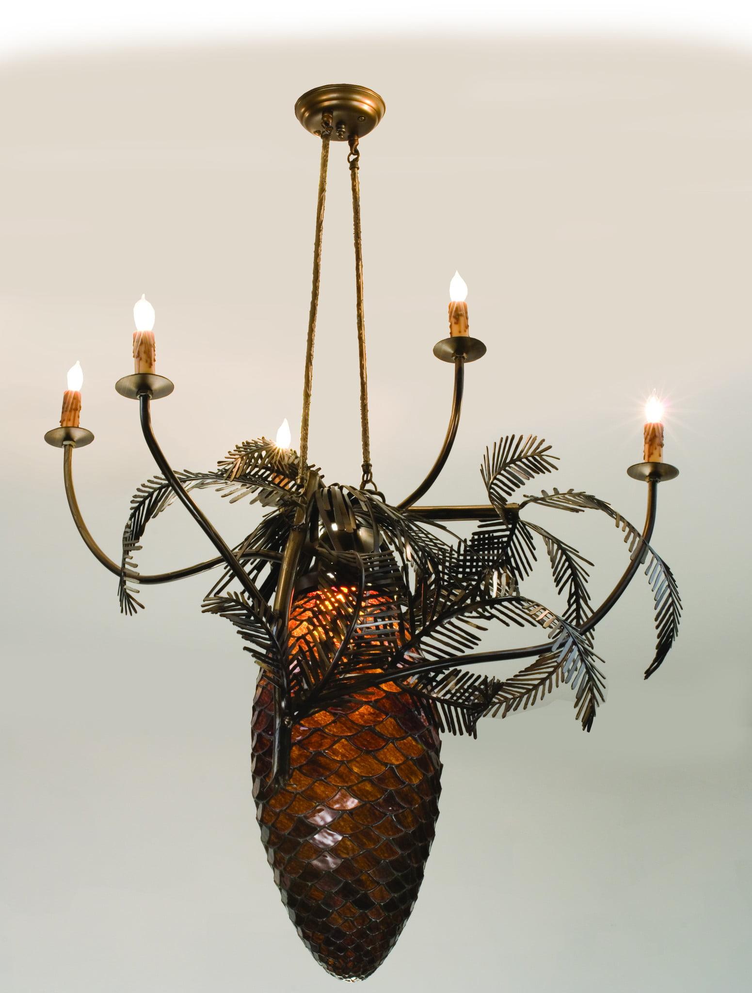Meyda Tiffany 12363 29. 5 Inch W Pine Bough Pendant by Meyda Tiffany