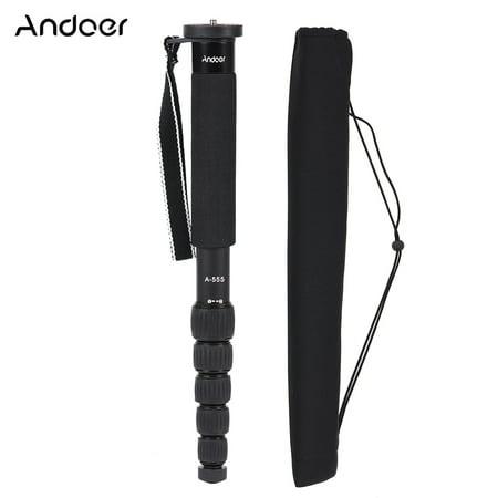 Andoer A-555 6-Section Compact Portable Photography Aluminum Alloy Monopod Unipod Stick for Nikon Canon Sony Pentax Camera Max. Load 10kg / 22lbs - image 1 de 1