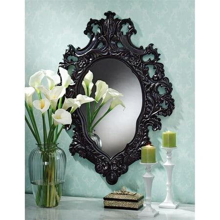 Design Toscano Madame Antoinette Ebony Salon Mirror (Saloon Madame)
