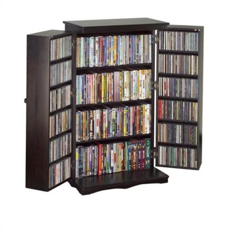 "Leslie Dame 40"" Louvered Mission Style Media Cabinet in Espresso by"