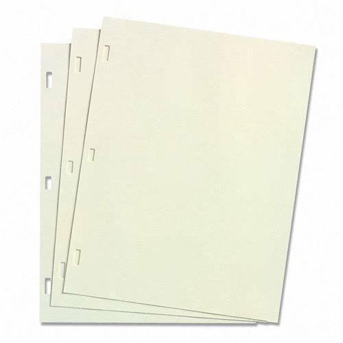 Acco Wilson Jones Ivory Linen Ledger Refill Sheet - Lette...