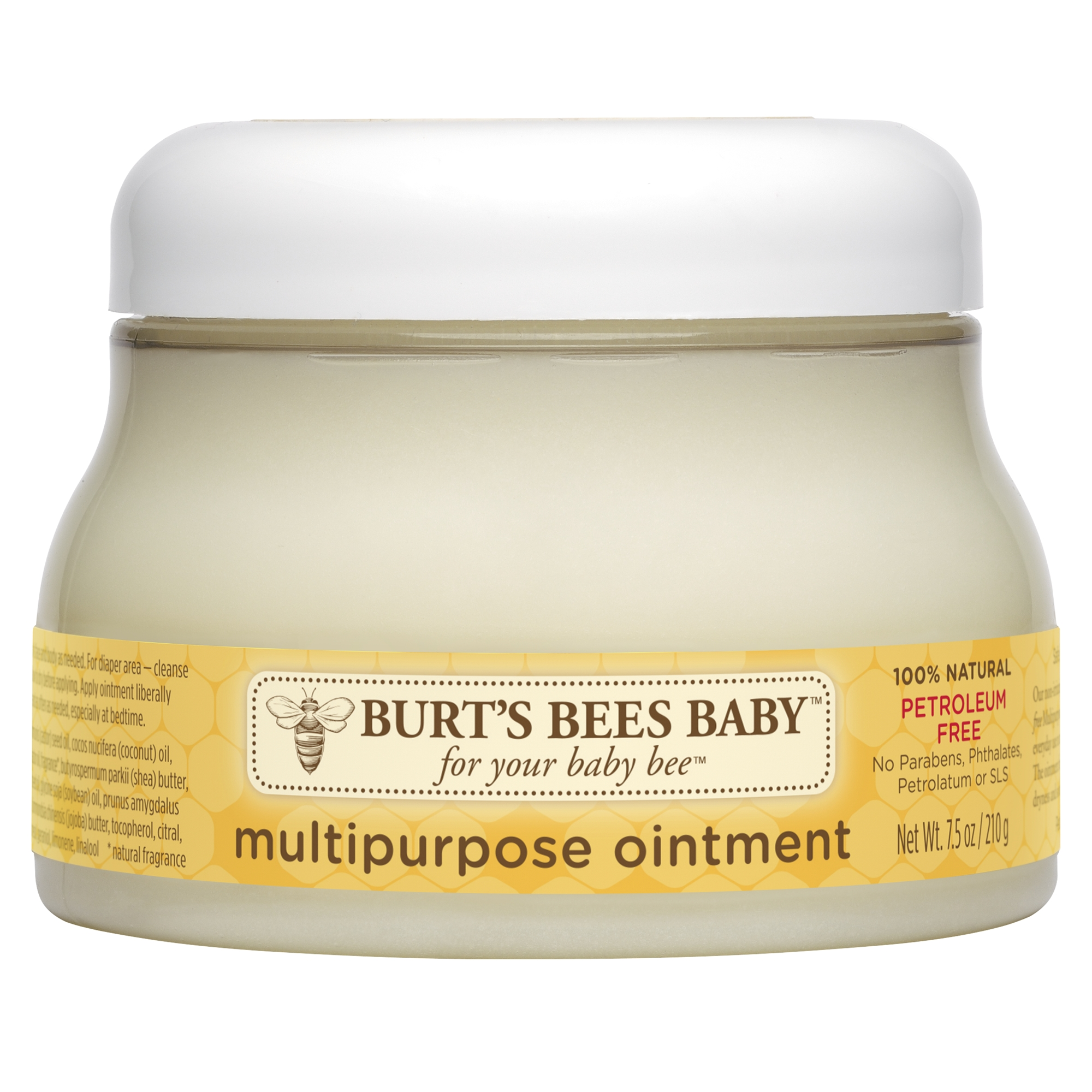 Burt's Bees Baby 100% Natural Multipurpose Ointment, Face & Body Baby Ointment - 7.5 oz Tub