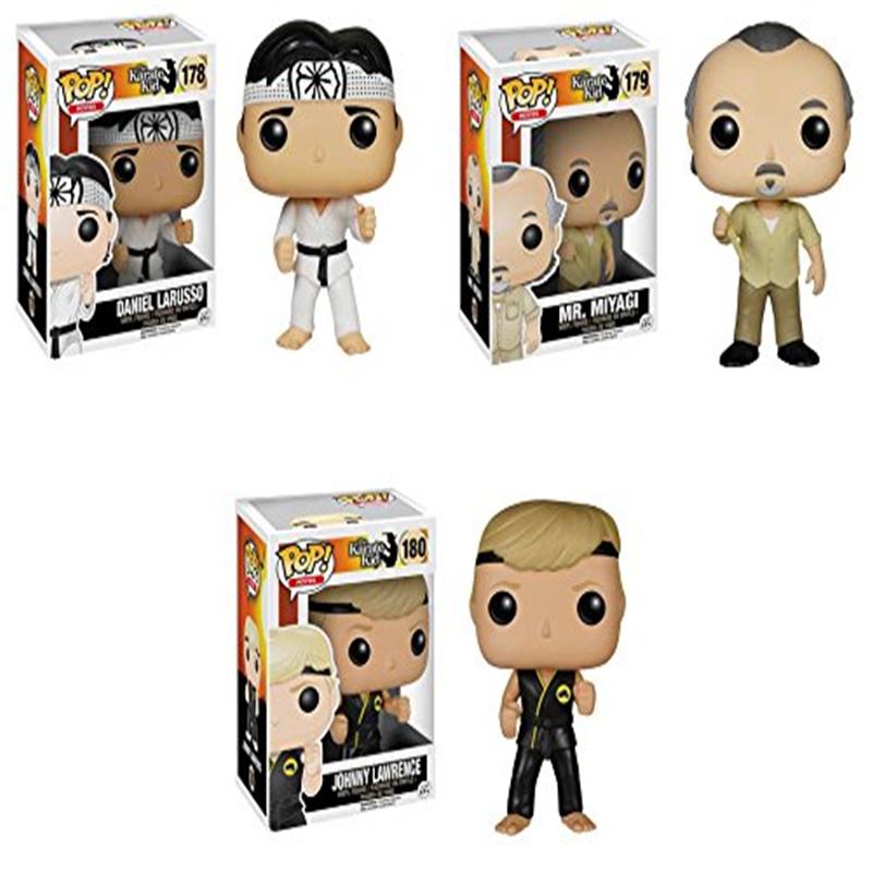 Karate Kid Mr. Miyagi, Daniel LaRusso and Johnny Lawrence Pop! Vinyl Figures Set of 3