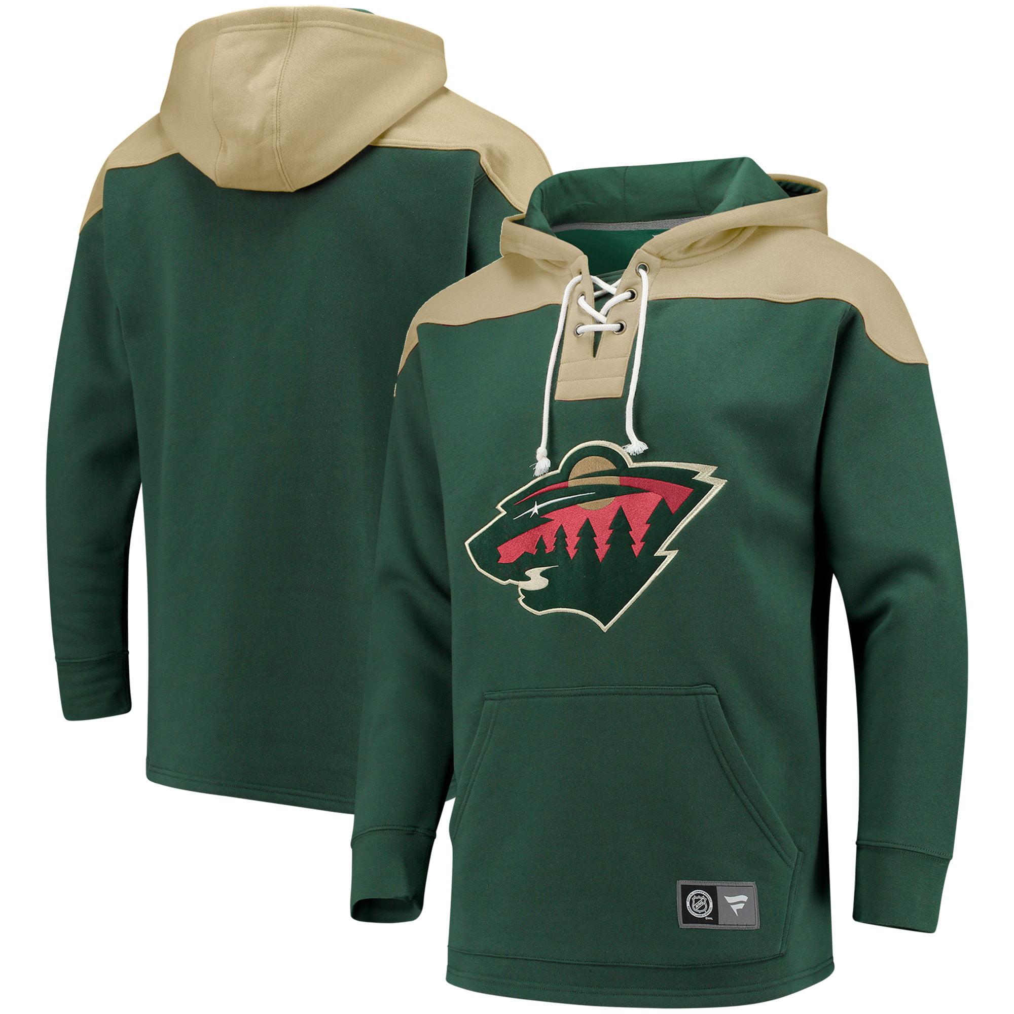 Minnesota Wild Fanatics Branded Breakaway Lace Up Hoodie - Green/Red