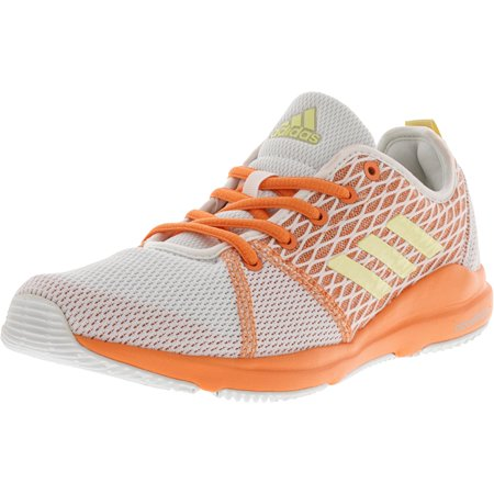 Adidas Women's Arianna Cloudfoam White / Orange Peach Ankle-High Running Shoe - 7M ()