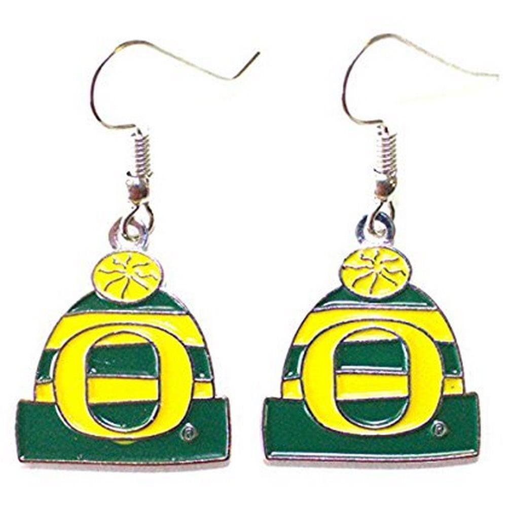 NCAA Officially Licensed Oregon Ducks Beanie Style Dangle Earrings