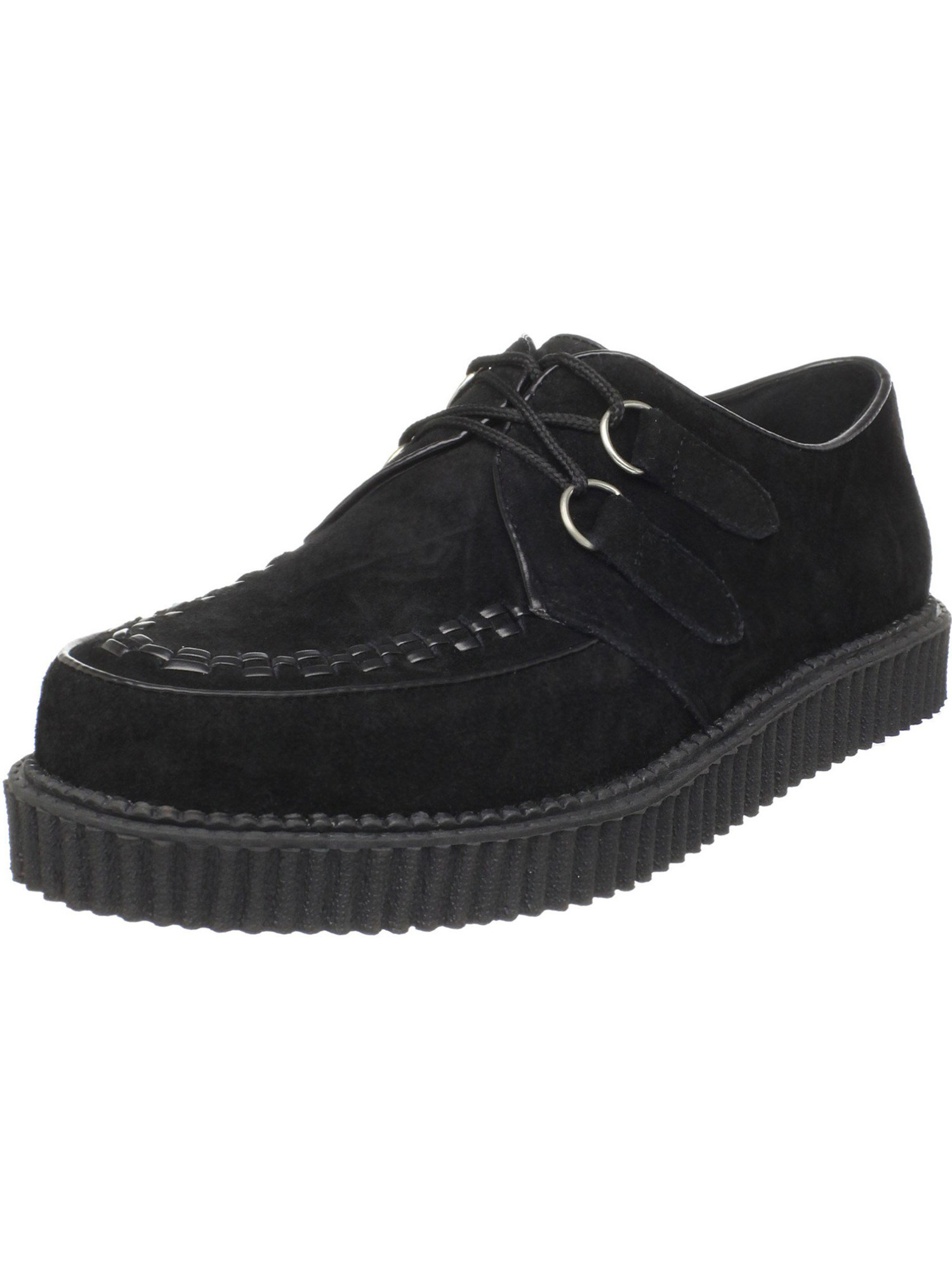 1 Inch MENS SIZING Creepers Black Suede Gothic Shoes Rockabilly Syle