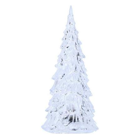 Fordawn 4pcs LED Light Up Christmas Tree Mini Xmas Night Light Christmas Ornaments Decoration - image 3 of 8