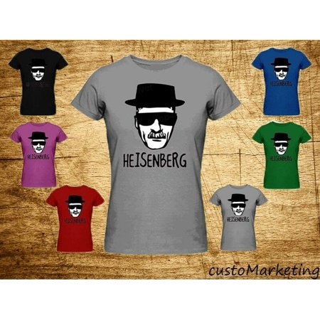 Heisenberg Breaking Bad Women T-Shirt Sketch Face Tee Color Black Small (Breaking Bad Women Tshirt)