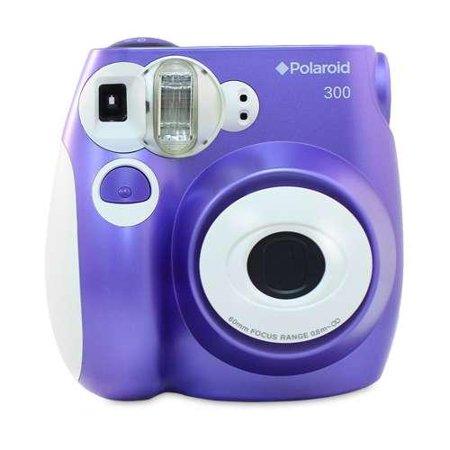 polaroid pic 300 purple instant camera automatic flash works with polaroid 300 instant film. Black Bedroom Furniture Sets. Home Design Ideas