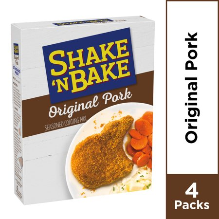 (2 Pack) Kraft Shake 'n Bake Original Recipe Pork Seasoned Coating Mix, 10 oz Box