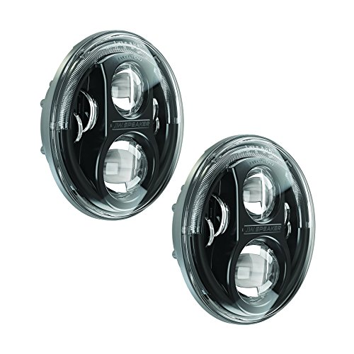 JW Speaker 8700J-B Black LED Headlight| Set of 2