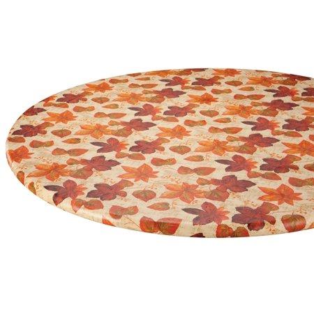 Autumn Flannel Autumn Flannel - Autumn Leaves Elasticized Vinyl Table Cover 40