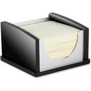 Kantek 3x3 Memo Pad Holder, Black Acrylic and Aluminum