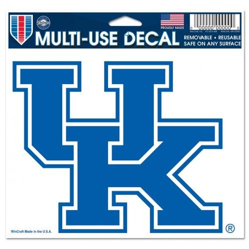 Kentucky Wildcats Official NCAA 4 inch x 6 inch Car Window Cling Decal by WinCraft